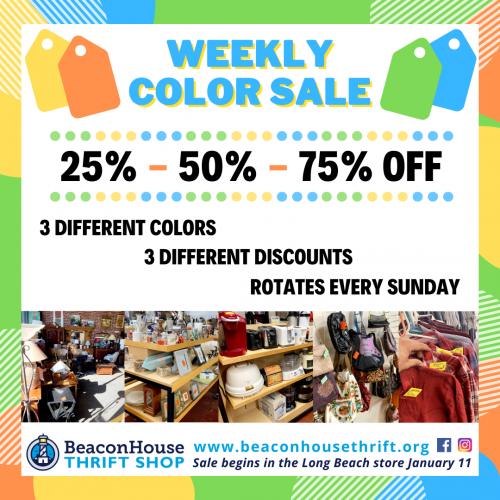 Weekly Color Sale