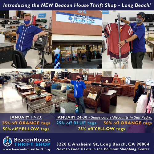 Introducing the new Beacon House Thrift Shop - Long Beach!